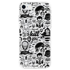 Plastové pouzdro iSaprio - Comics 01 - black na mobil Apple iPhone SE 2020