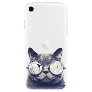 Plastové pouzdro iSaprio - Crazy Cat 01 na mobil Apple iPhone SE 2020