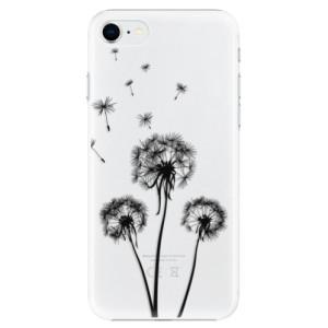 Plastové pouzdro iSaprio - Three Dandelions - black na mobil Apple iPhone SE 2020