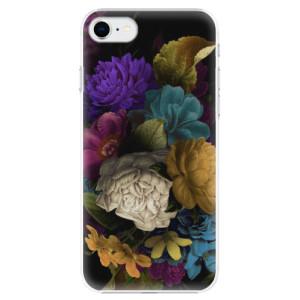 Plastové pouzdro iSaprio - Dark Flowers na mobil Apple iPhone SE 2020