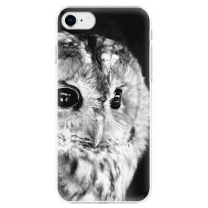 Plastové pouzdro iSaprio - BW Owl na mobil Apple iPhone SE 2020