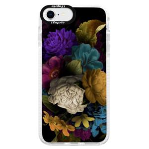 Bytelné silikonové pouzdro Bumper iSaprio - Dark Flowers - na mobil Apple iPhone SE 2020 - poslední kousek za tuto cenu