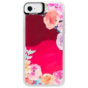 Neonové pouzdro Pink iSaprio - Flower Brush - na mobil Apple iPhone SE 2020