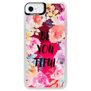 Neonové pouzdro Pink iSaprio - BeYouTiful - na mobil Apple iPhone SE 2020