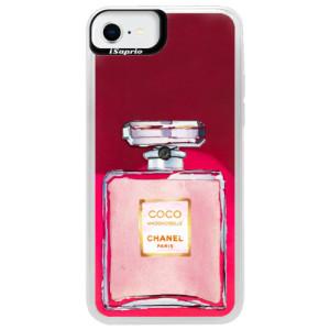 Neonové pouzdro Pink iSaprio - Chanel Rose - na mobil Apple iPhone SE 2020