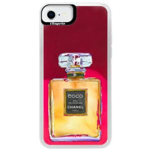 Neonové pouzdro Pink iSaprio - Chanel Gold - na mobil Apple iPhone SE 2020