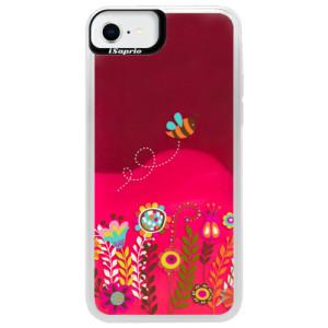 Neonové pouzdro Pink iSaprio - Bee 01 - na mobil Apple iPhone SE 2020