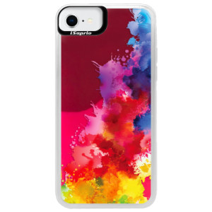 Neonové pouzdro Pink iSaprio - Color Splash 01 - na mobil Apple iPhone SE 2020