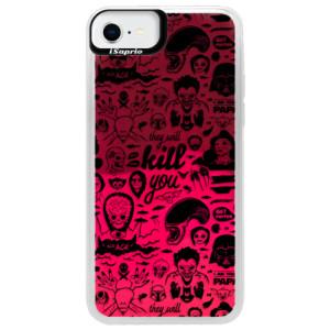 Neonové pouzdro Pink iSaprio - Comics 01 - black - na mobil Apple iPhone SE 2020