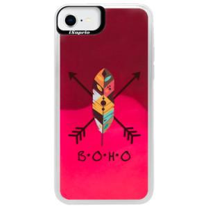 Neonové pouzdro Pink iSaprio - BOHO - na mobil Apple iPhone SE 2020