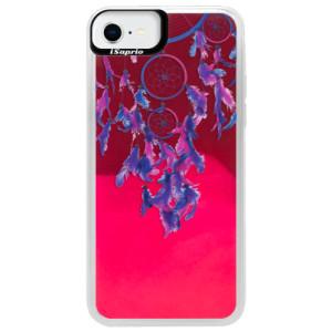 Neonové pouzdro Pink iSaprio - Dreamcatcher 01 - na mobil Apple iPhone SE 2020