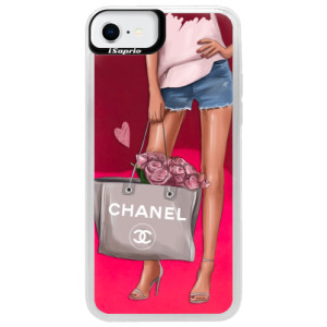 Neonové pouzdro Pink iSaprio - Fashion Bag - na mobil Apple iPhone SE 2020