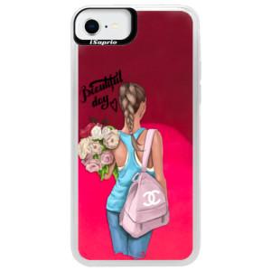 Neonové pouzdro Pink iSaprio - Beautiful Day - na mobil Apple iPhone SE 2020