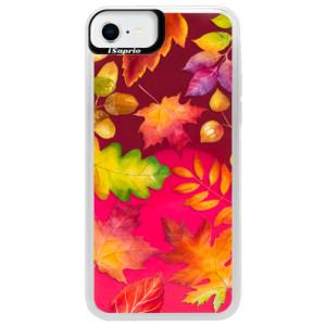 Neonové pouzdro Pink iSaprio - Autumn Leaves 01 - na mobil Apple iPhone SE 2020