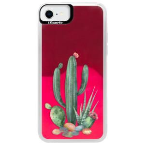 Neonové pouzdro Pink iSaprio - Cacti 02 - na mobil Apple iPhone SE 2020