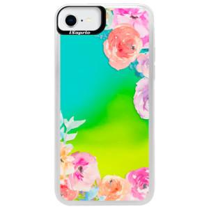 Neonové pouzdro Blue iSaprio - Flower Brush - na mobil Apple iPhone SE 2020