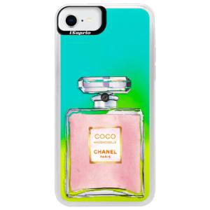 Neonové pouzdro Blue iSaprio - Chanel Rose - na mobil Apple iPhone SE 2020