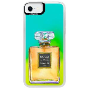 Neonové pouzdro Blue iSaprio - Chanel Gold - na mobil Apple iPhone SE 2020