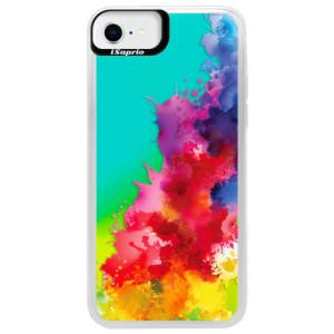Neonové pouzdro Blue iSaprio - Color Splash 01 - na mobil Apple iPhone SE 2020