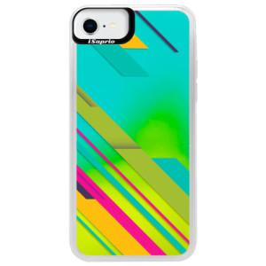 Neonové pouzdro Blue iSaprio - Color Stripes 03 - na mobil Apple iPhone SE 2020