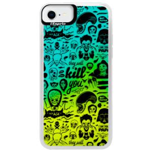 Neonové pouzdro Blue iSaprio - Comics 01 - black - na mobil Apple iPhone SE 2020