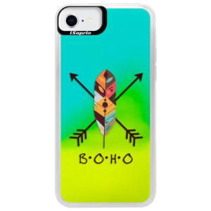 Neonové pouzdro Blue iSaprio - BOHO - na mobil Apple iPhone SE 2020
