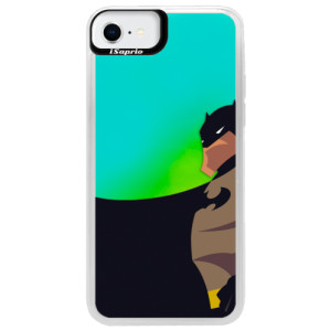 Neonové pouzdro Blue iSaprio - BaT Comics - na mobil Apple iPhone SE 2020