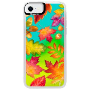 Neonové pouzdro Blue iSaprio - Autumn Leaves 01 - na mobil Apple iPhone SE 2020