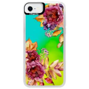 Neonové pouzdro Blue iSaprio - Fall Flowers - na mobil Apple iPhone SE 2020