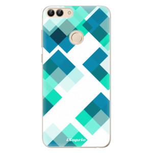 Odolné silikonové pouzdro iSaprio - Abstract Squares 11 na mobil Huawei P Smart