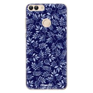 Odolné silikonové pouzdro iSaprio - Blue Leaves 05 na mobil Huawei P Smart