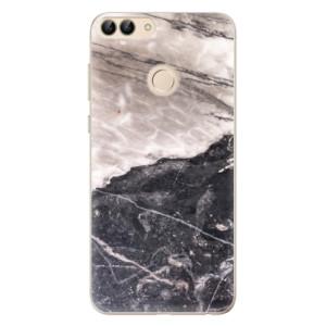 Odolné silikonové pouzdro iSaprio - BW Marble na mobil Huawei P Smart