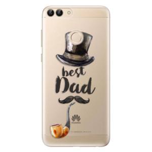 Odolné silikonové pouzdro iSaprio - Best Dad na mobil Huawei P Smart