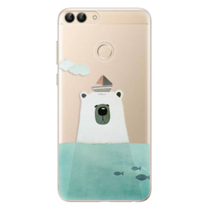 Odolné silikonové pouzdro iSaprio - Bear With Boat na mobil Huawei P Smart