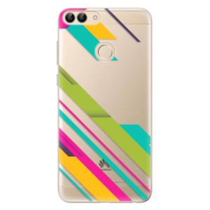 Odolné silikonové pouzdro iSaprio - Color Stripes 03 na mobil Huawei P Smart