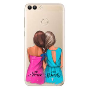 Odolné silikonové pouzdro iSaprio - Best Friends na mobil Huawei P Smart
