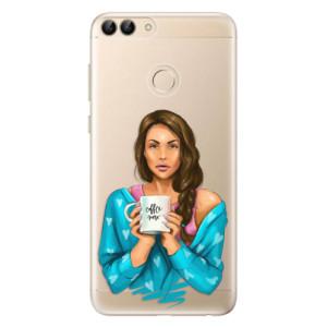 Odolné silikonové pouzdro iSaprio - Coffe Now - Brunette na mobil Huawei P Smart
