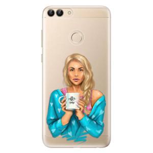 Odolné silikonové pouzdro iSaprio - Coffe Now - Blond na mobil Huawei P Smart