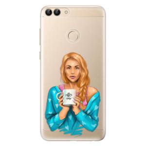 Odolné silikonové pouzdro iSaprio - Coffe Now - Redhead na mobil Huawei P Smart