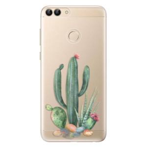 Odolné silikonové pouzdro iSaprio - Cacti 02 na mobil Huawei P Smart