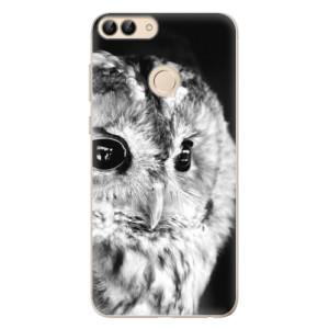 Odolné silikonové pouzdro iSaprio - BW Owl na mobil Huawei P Smart
