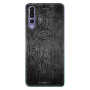 Odolné silikonové pouzdro iSaprio - Black Wood 13 na mobil Huawei P20 Pro
