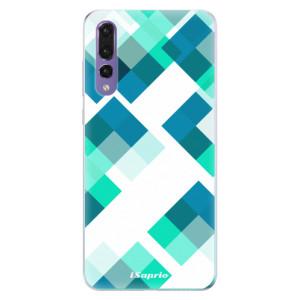 Odolné silikonové pouzdro iSaprio - Abstract Squares 11 na mobil Huawei P20 Pro