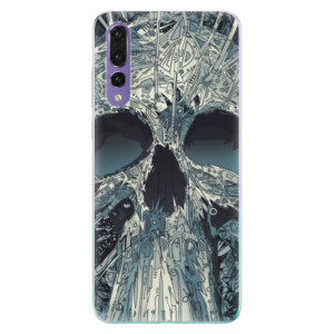 Odolné silikonové pouzdro iSaprio - Abstract Skull na mobil Huawei P20 Pro