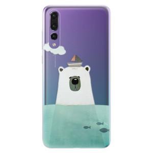 Odolné silikonové pouzdro iSaprio - Bear With Boat na mobil Huawei P20 Pro