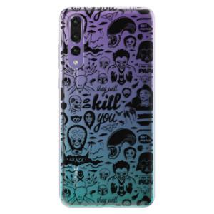 Odolné silikonové pouzdro iSaprio - Comics 01 - black na mobil Huawei P20 Pro