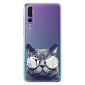 Odolné silikonové pouzdro iSaprio - Crazy Cat 01 na mobil Huawei P20 Pro