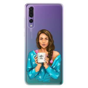 Odolné silikonové pouzdro iSaprio - Coffe Now - Brunette na mobil Huawei P20 Pro