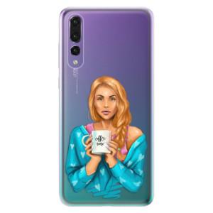 Odolné silikonové pouzdro iSaprio - Coffe Now - Redhead na mobil Huawei P20 Pro