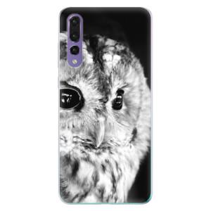 Odolné silikonové pouzdro iSaprio - BW Owl na mobil Huawei P20 Pro